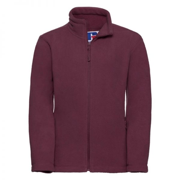 Kids Heavy Full Zip Outdoor Fleece - JFK870-burgundy