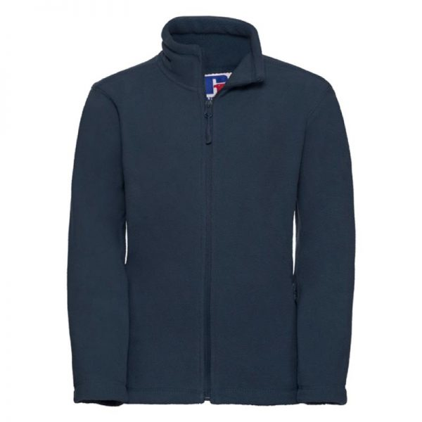 Kids Heavy Full Zip Outdoor Fleece - JFK870-french-navy