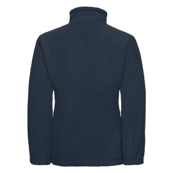 Kids Heavy Full Zip Outdoor Fleece - JFK870-french-navy-back