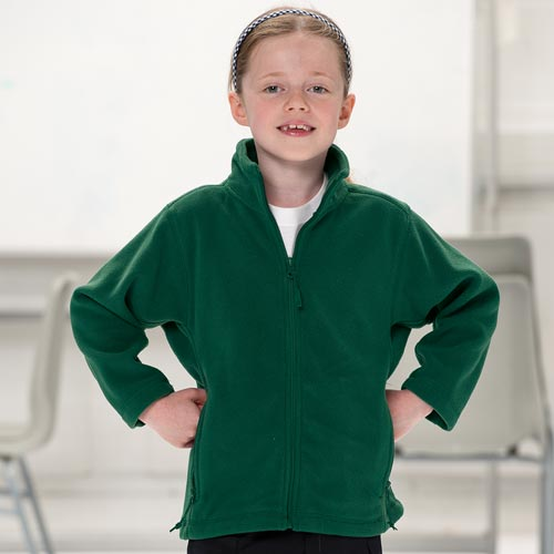 Kids Heavy Full Zip Outdoor Fleece - JFK870