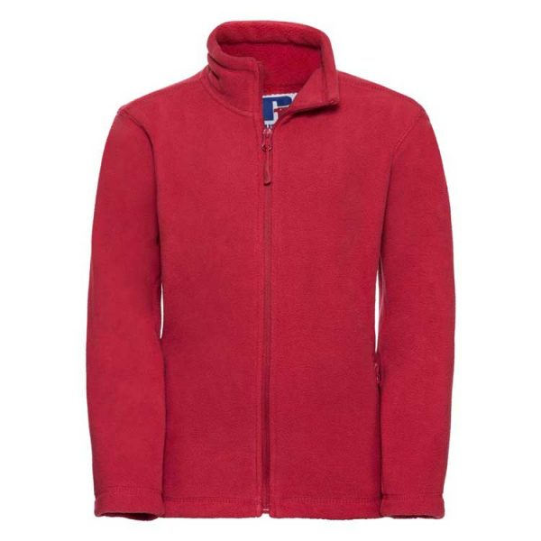 Kids Heavy Full Zip Outdoor Fleece - JFK870-red