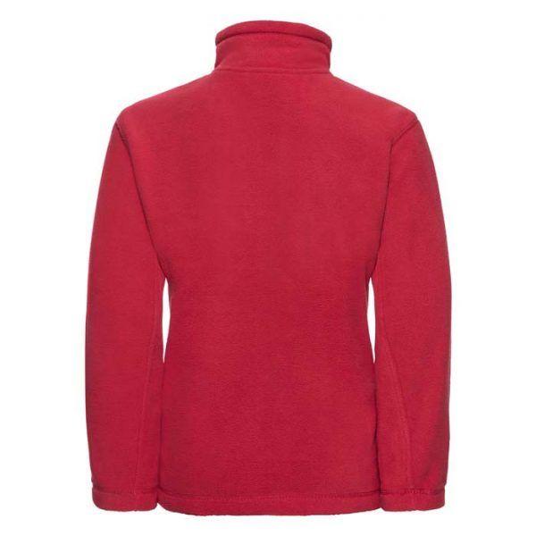 Kids Heavy Full Zip Outdoor Fleece - JFK870-red-back