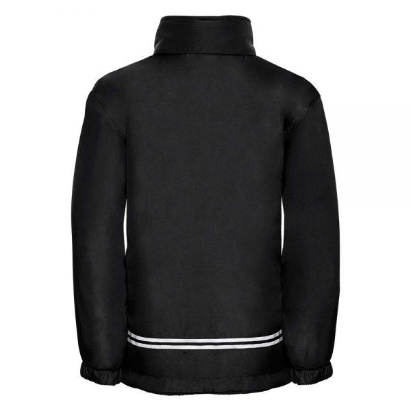 Kids Heavy Reversible Fleece - JFK875-black-poly-back