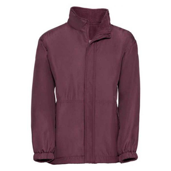 Kids Heavy Reversible Fleece - JFK875-burgundy-poly
