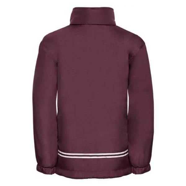 Kids Heavy Reversible Fleece - JFK875-burgundy-poly-back