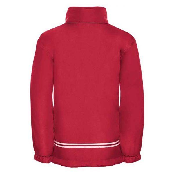 Kids Heavy Reversible Fleece - JFK875-red-poly-back
