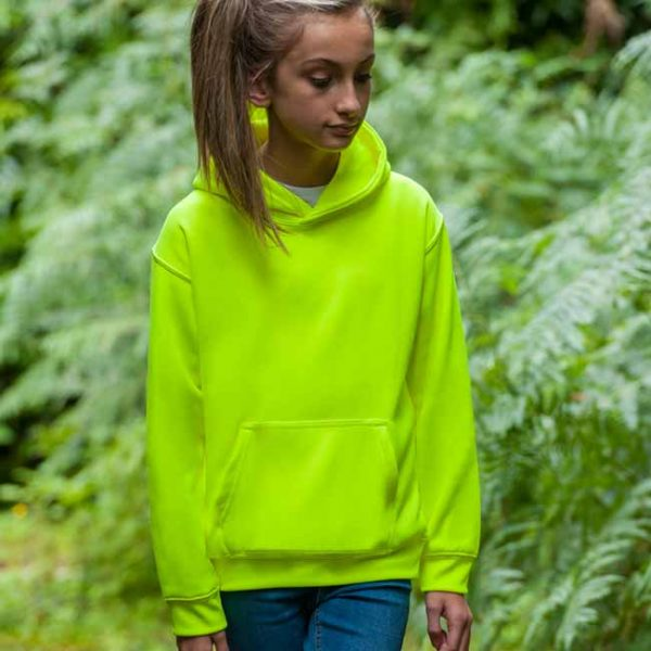 Kids Just Hoods Electric Hoodie - JH004B-electric-green