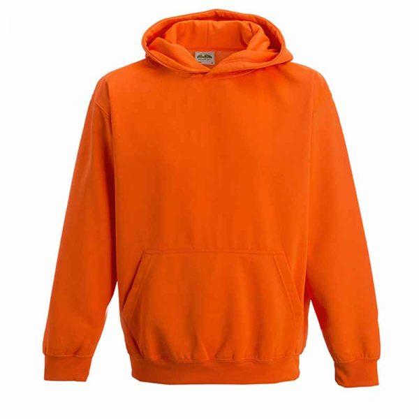 Kids Just Hoods Electric Hoodie - JH004B-orange