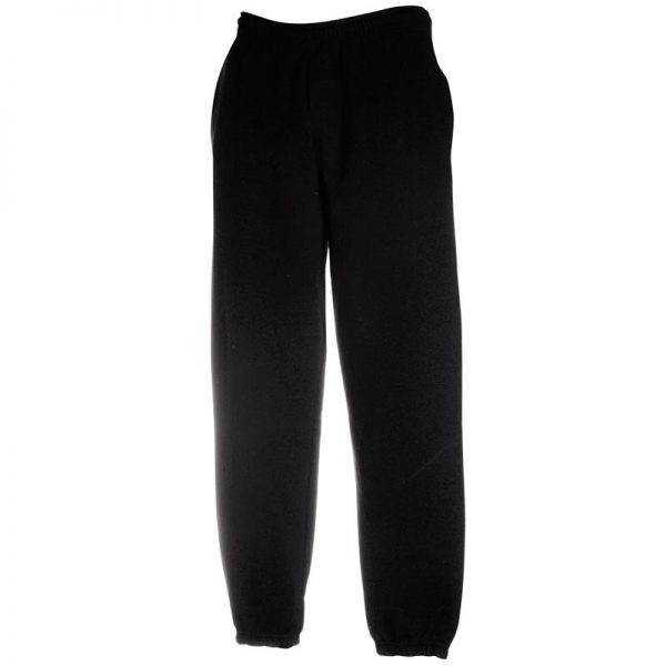 280gsm 80/20 CP Classic Elasticated Cuff Jog Pants - SJA-black