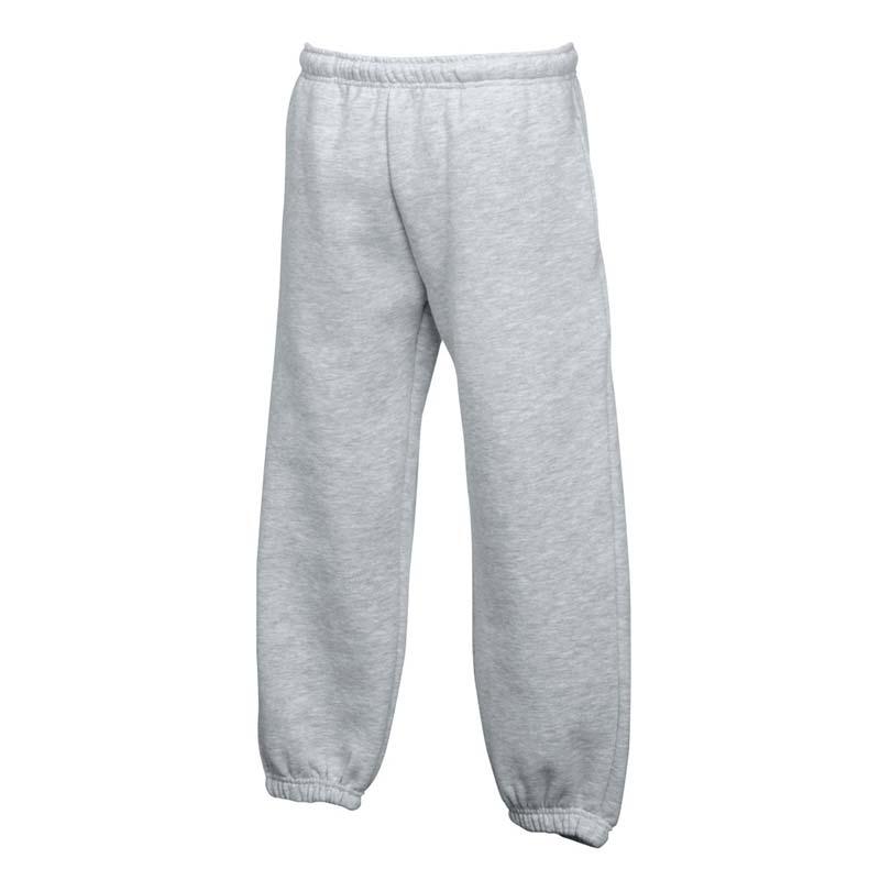 KIDS Classic Elasticated Cuff Jog Pants-SJK-64-051-grey