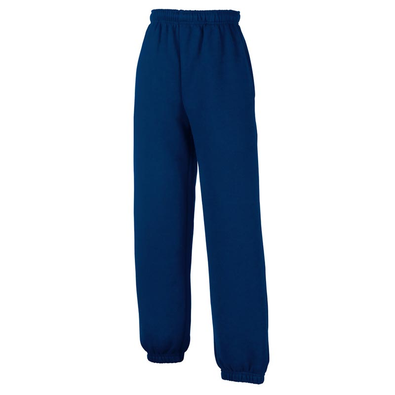 KIDS Classic Elasticated Cuff Jog Pants-SJK-64-051-navy