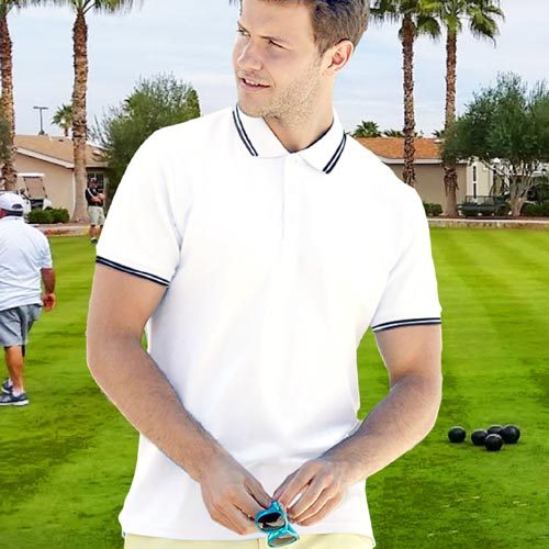 Bowling Contrast Tipped Polo-SPTA-BWL
