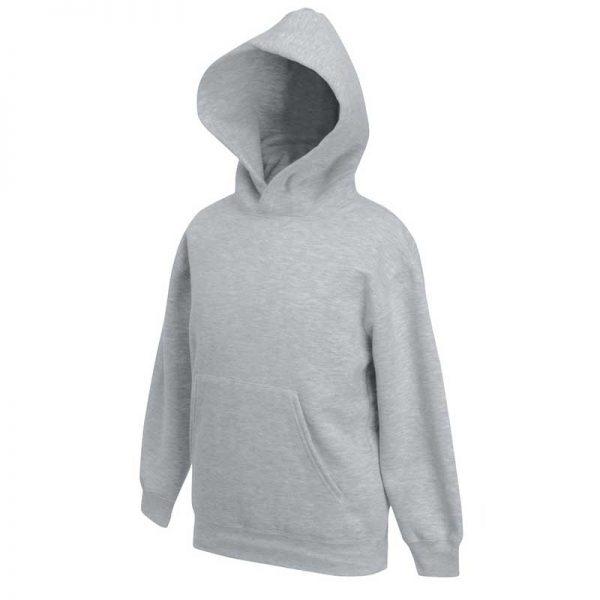Kids Set-In Hooded Sweatshirt - SSHK-grey