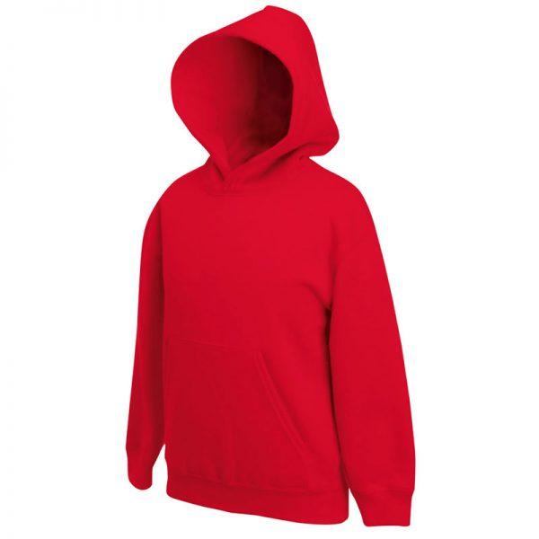 Kids Set-In Hooded Sweatshirt - SSHK-red