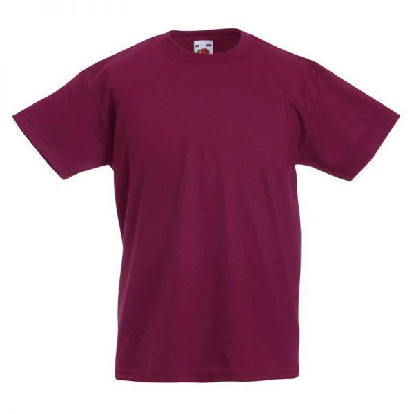 Kids & Toddlers Valueweight Crew T-Shirt - STVK-burgundy
