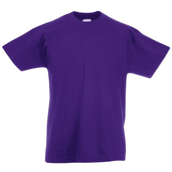 Kids & Toddlers Valueweight Crew T-Shirt - STVK-purple