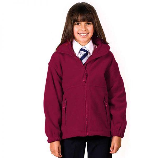 135gsm Kids Premium Full-Zip Polar Fleece Jacket - TFK01