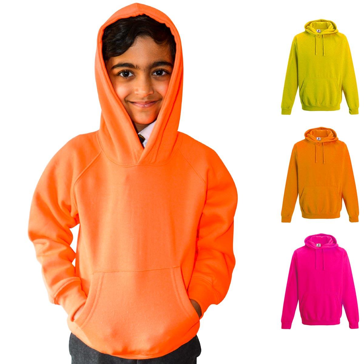 Kids Illuminous Hooded Raglan Sweatshirt - TSK08