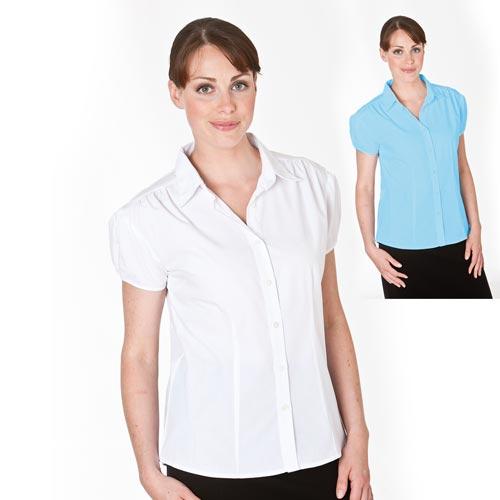 102gsm Ladies Puff Sleeve Blouse - CBLL06
