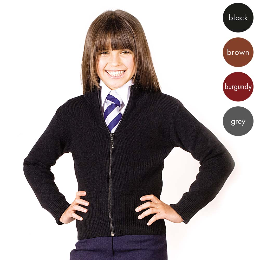 Girls Knitted Stretch Zip Cardigan CCAG02