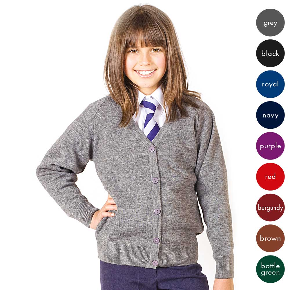 Girls Premium Wool-Mix Knitted Cardigan CCAK01