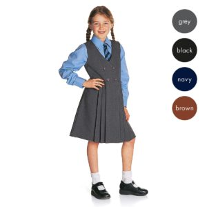 Girls Button-Front Pinafore CPIG01