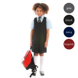 Girls Pleated-Front Pinafore CPIG02