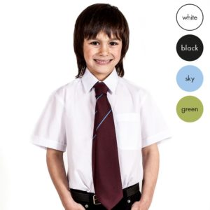 TWIN PACK - Boys Short Sleeve School Shirt CSHB02