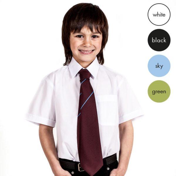 TWIN PACK - Boys Short Sleeve School Shirt CSHB02