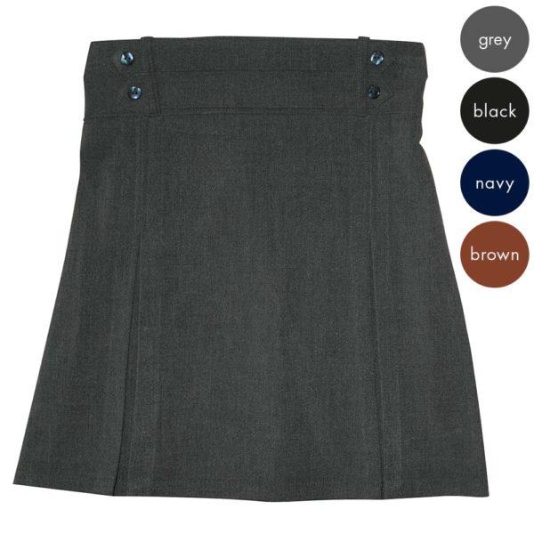 Girls 4 Button Waist Skirt CSKG126
