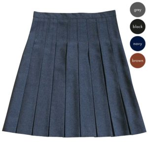 Girls Stitch-Down Pleated Skirt CSKG138