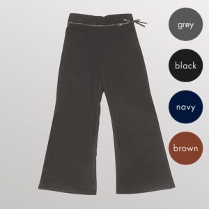Girls Ribbon Bootleg Trousers - Primary CTRG127
