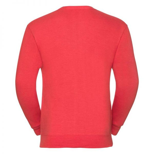 295gsm 50/50 PC Sweatshirt Cardigan - JCAA273-birght-red-back