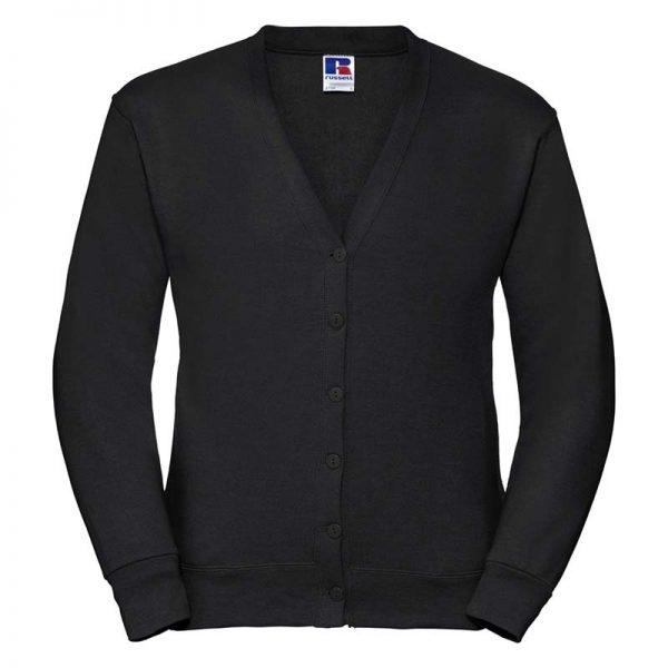 295gsm 50/50 PC Sweatshirt Cardigan - JCAA273-black