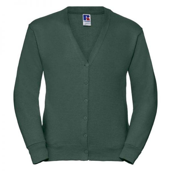 295gsm 50/50 PC Sweatshirt Cardigan - JCAA273-bottle-green