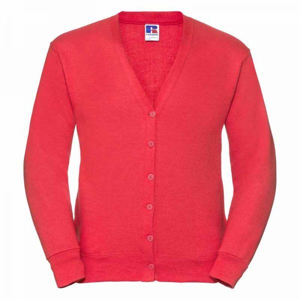 295gsm 50/50 PC Sweatshirt Cardigan - JCAA273-bright-red