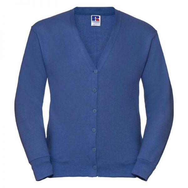 295gsm 50/50 PC Sweatshirt Cardigan - JCAA273-bright-royal