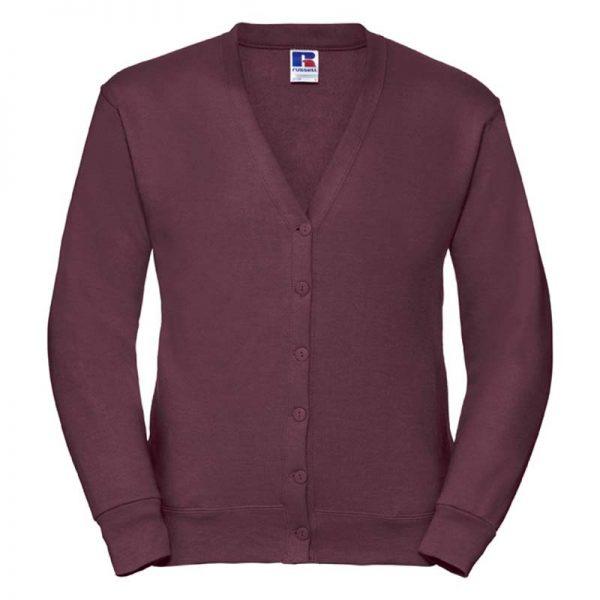 295gsm 50/50 PC Sweatshirt Cardigan - JCAA273-burgundy