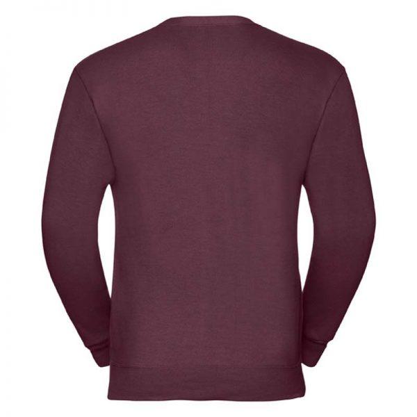 295gsm 50/50 PC Sweatshirt Cardigan - JCAA273-burgundy-back