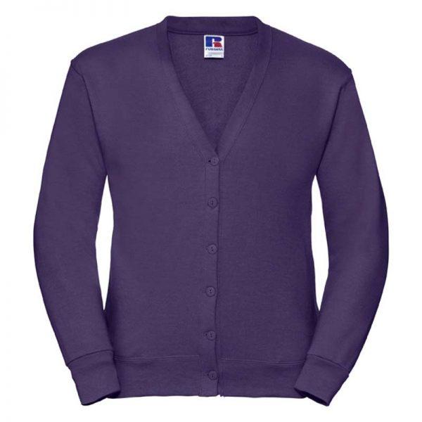 295gsm 50/50 PC Sweatshirt Cardigan - JCAA273-purple