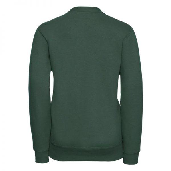 295g 50/50 PC Girls Sweatshirt Cardigan - JCK273-bottle-green-back