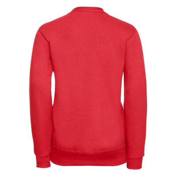 295g 50/50 PC Girls Sweatshirt Cardigan - JCK273-bright-red-back