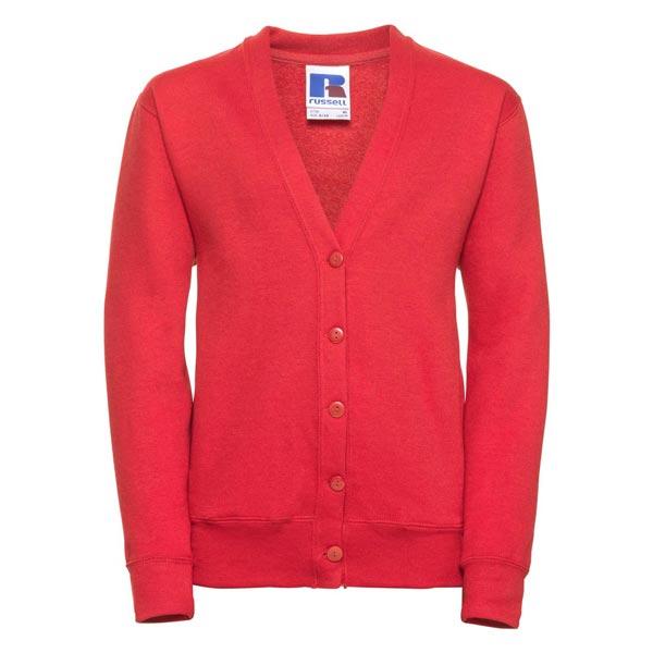 295g 50/50 PC Girls Sweatshirt Cardigan - JCK273-bright-red