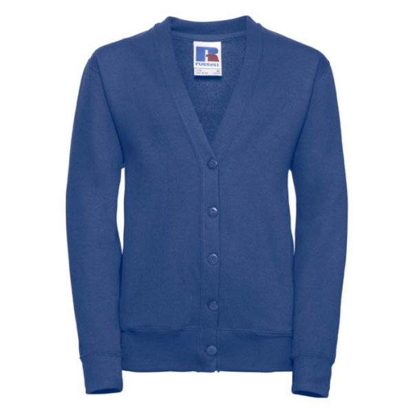 295g 50/50 PC Girls Sweatshirt Cardigan - JCK273-bright-royal