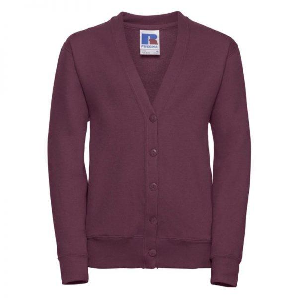295g 50/50 PC Girls Sweatshirt Cardigan - JCK273-burgundy