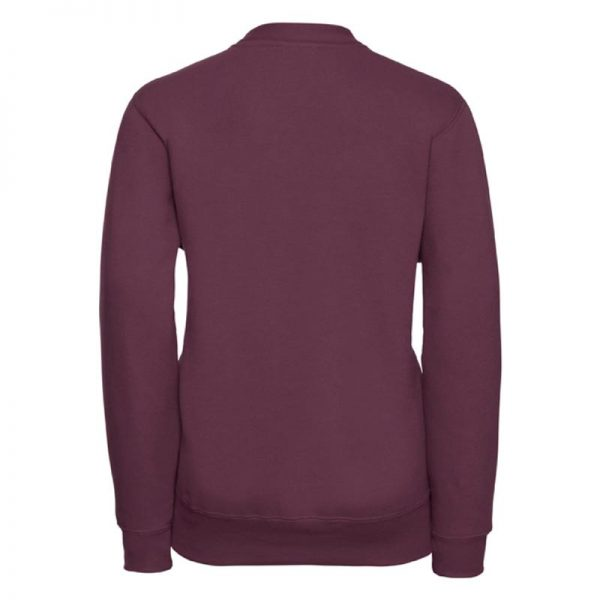 295g 50/50 PC Girls Sweatshirt Cardigan - JCK273-burgundy-back