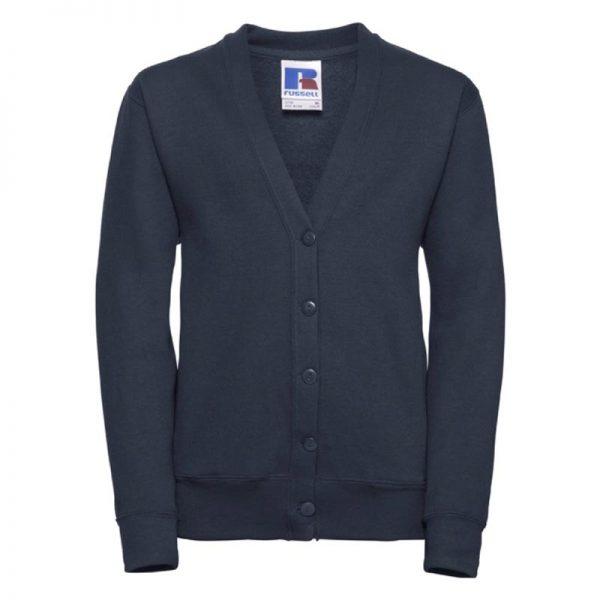 295g 50/50 PC Girls Sweatshirt Cardigan - JCK273-french-navy