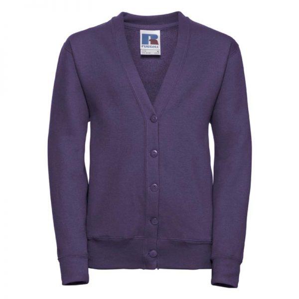 295g 50/50 PC Girls Sweatshirt Cardigan - JCK273-purple