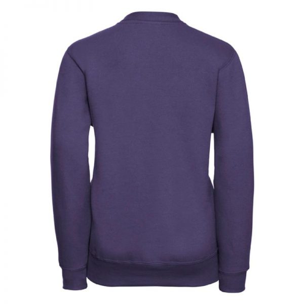295g 50/50 PC Girls Sweatshirt Cardigan - JCK273-purple-back