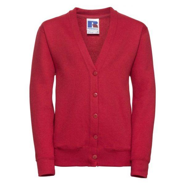 295g 50/50 PC Girls Sweatshirt Cardigan - JCK273-red